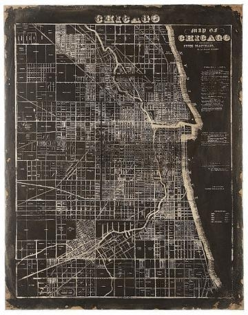 Of Chicago Wall Plaque – Unframed Art – Wall Decor – Home Decor Intended For Chicago Map Wall Art (Image 19 of 20)