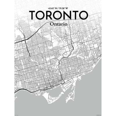 Featured Image of Toronto Map Wall Art