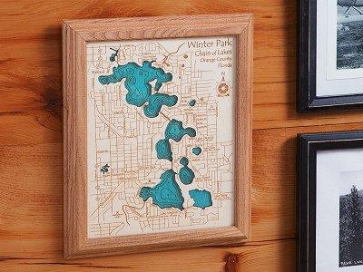 Personalized Wall Art And Cribbage Boards From Lake Art Inside Lake Map Wall Art (View 5 of 20)