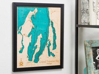 Personalized Wall Art And Cribbage Boards From Lake Art Intended For Lake Map Wall Art (View 7 of 20)