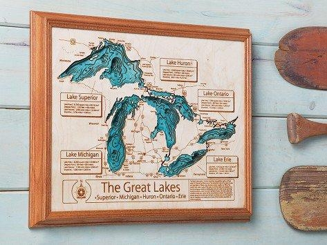 Personalized Wall Art And Cribbage Boards From Lake Art Throughout Lake Map Wall Art (View 2 of 20)