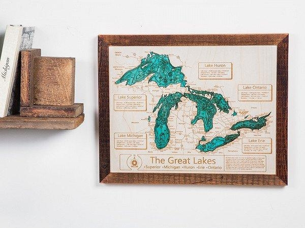 Personalized Wall Art And Cribbage Boards From Lake Art With Regard To Lake Map Wall Art (Image 19 of 20)