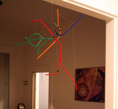 Pipe Cleaner Subway Map | Andy Woodruff Inside Boston Map Wall Art (Image 18 of 20)
