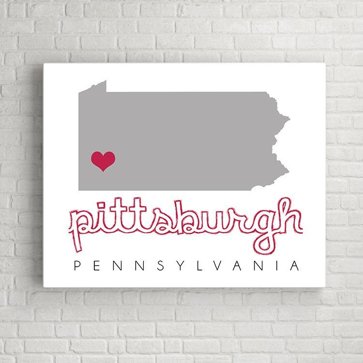 Pittsburgh Map Wall Art, Pittsburgh Wall Art, Printable Map Wall For Pittsburgh Map Wall Art (Image 16 of 20)