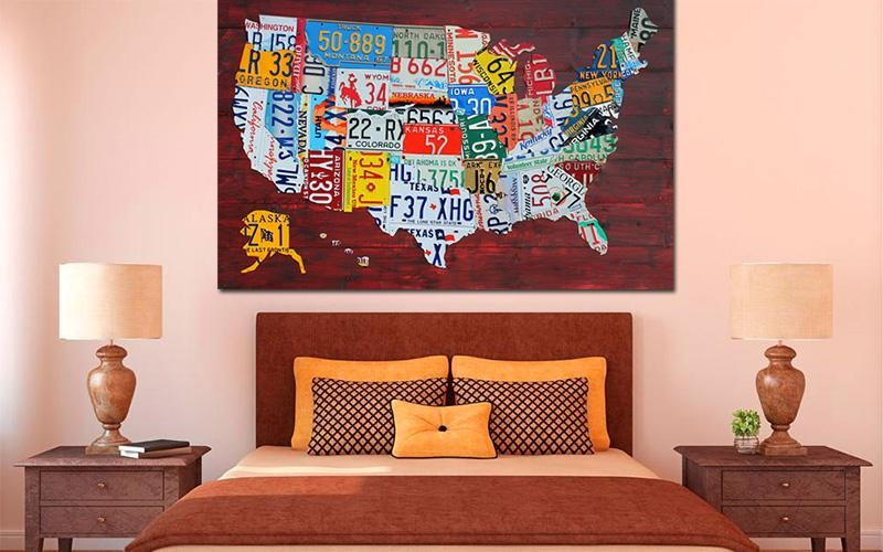Purchase License Plate Art And License Plate Mapsdesign Turnpike Inside License Plate Map Wall Art (Image 9 of 20)
