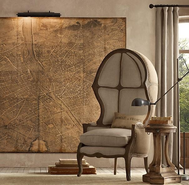 Restoration Hardware Paris Map Knock Off Regarding Paris Map Wall Art (Image 16 of 20)