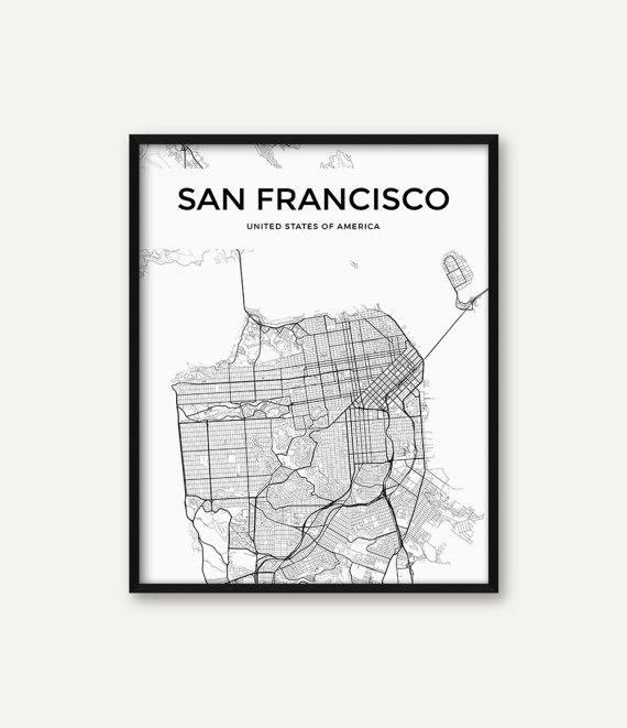 Attirant Featured Image Of San Francisco Map Wall Art
