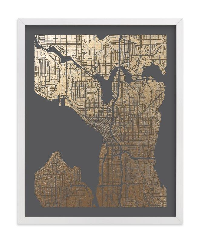 Featured Image of Seattle Map Wall Art