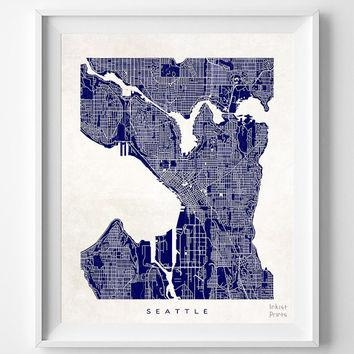 Seattle Map Wall Art Within Seattle Map Wall Art (View 3 of 20)
