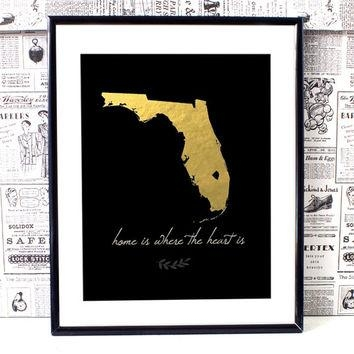 Featured Image of Florida Map Wall Art