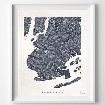 Shop New York Room Decor On Wanelo In Brooklyn Map Wall Art (Image 13 of 20)