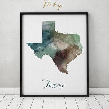 Shop Texas Map Print On Wanelo Within Texas Map Wall Art (Image 12 of 20)