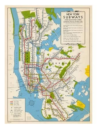 Subway Maps Posters At Allposters With Regard To New York Subway Map Wall Art (Image 17 of 20)