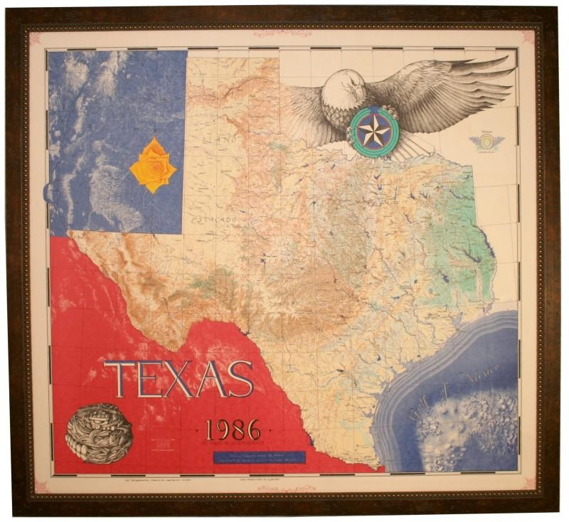 Texas Office Decor For Wall Floor And Office Furniture With Regard To Texas Map Wall Art (Image 19 of 20)