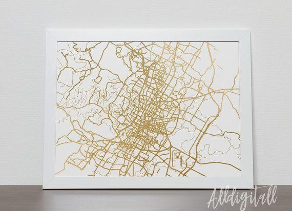The 25+ Best Austin Map Ideas On Pinterest | Austin Tx, New Year's With Texas Map Wall Art (Image 20 of 20)
