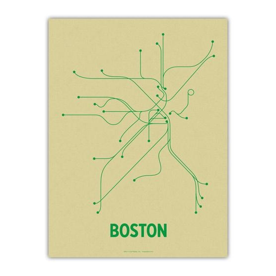The Mbta Transit Map As Wall Art – Boston Magazine Inside Metro Map Wall Art (Image 17 of 20)