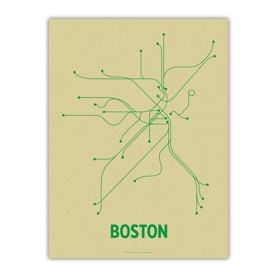 The Mbta Transit Map As Wall Art – Boston Magazine Within Boston Map Wall Art (Image 20 of 20)