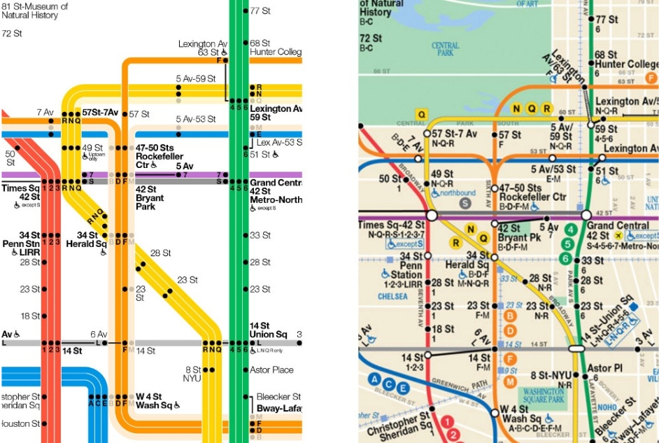 The New York City Subway Map Redesigned | Observer Throughout Nyc Subway Map Wall Art (Image 17 of 20)