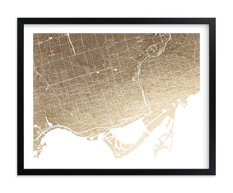 Toronto Map Foil Pressed Wall Artalex Elko Design | Minted With Regard To Map Wall Art Toronto (Image 15 of 20)