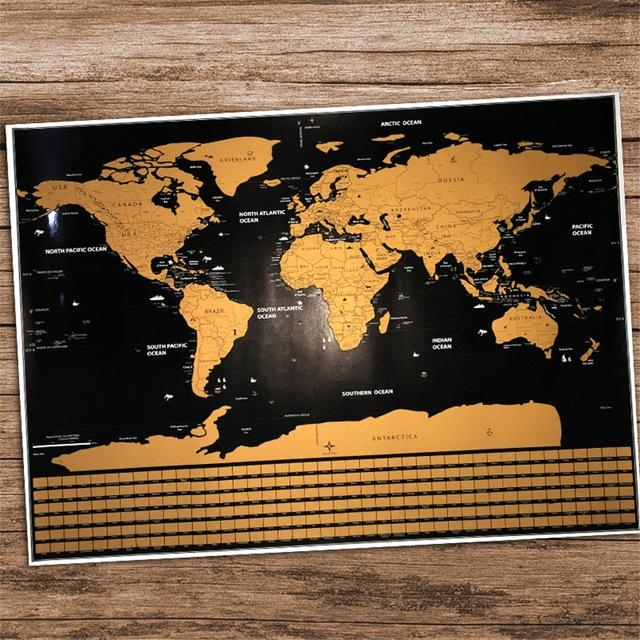 Travel Map Personalized Home World Map Poster National Geographic For Personalized Map Wall Art (Image 10 of 20)