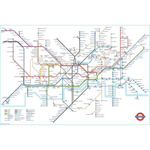 Tube Map Poster | London Transport Museum Shop Within London Tube Map Wall Art (View 10 of 20)