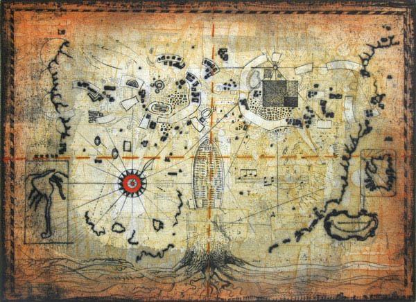 Untitled – Treasure Map Original Artthomas O Donohue :: Picassomio Regarding Treasure Map Wall Art (Image 18 of 20)