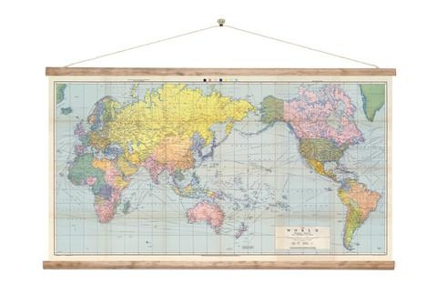 Vintage World Wall Map Canvas Print For Sale – New Zealand Art Prints For New Zealand Map Wall Art (View 12 of 20)