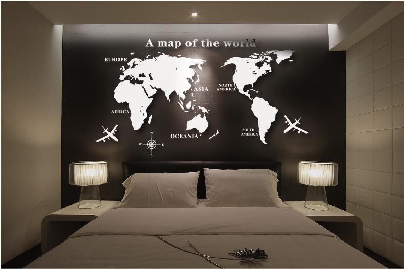 Wall Art Decal World Map Wall Sticker Globe Earth Wall Decor For Intended For World Map Wall Art Stickers (Image 15 of 20)