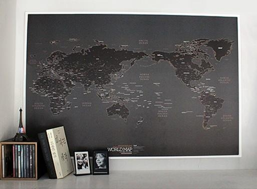 Wall Art Designs: Awesome Best Hanging World Maps Wall Art Decor Within Map Wall Art Maps (Image 15 of 20)