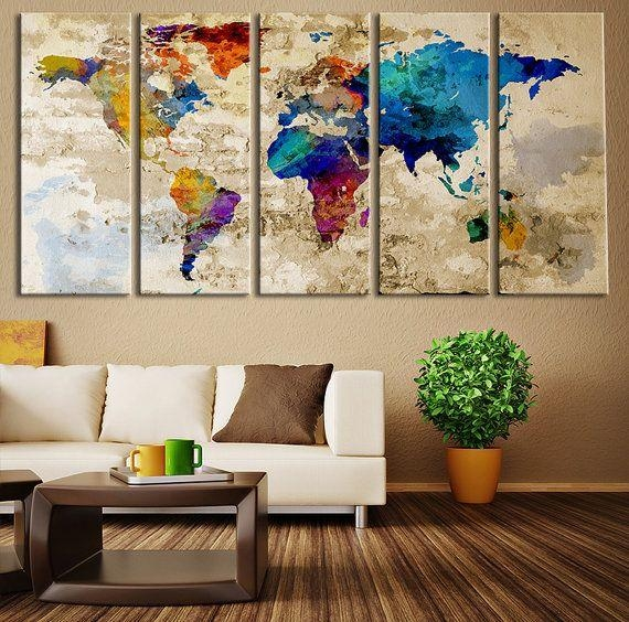 Wall Art Designs: Awesome Wall Art Large Canvas Prints Big Wall Regarding Cool Map Wall Art (Image 18 of 20)