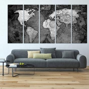 Wall Art Designs: Extra Large Wall Art World Map Canvas Art Print Intended For Large Map Wall Art (Image 16 of 20)