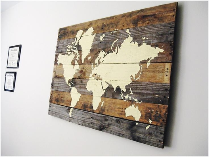 Wall Art Designs: Framed Map Of The World Wall Art Hanging Large Inside Framed Map Wall Art (Image 17 of 20)