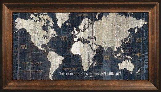 Wall Art Designs: Most Historical World Map Wall Art Framed With Framed Map Wall Art (Image 19 of 20)