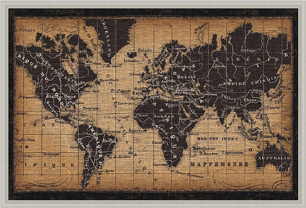 20 Ideas of World Map Wall Art Framed | Wall Art Ideas