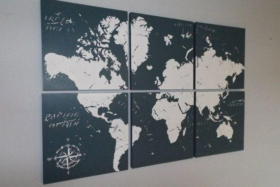 Wall Art Designs: Perfect Ideas Wall Art Maps Of The World Modern Inside Map Wall Art Maps (Image 16 of 20)