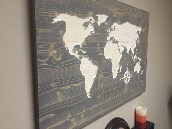 Wall Art Designs: Wooden World Map Wall Art Weathred Wood Map Wall Inside Worldmap Wall Art (Image 13 of 20)