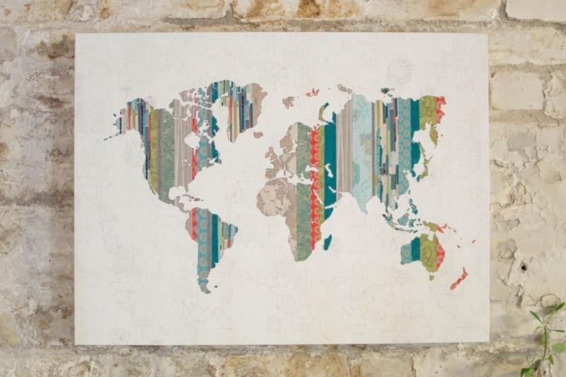 Wall Art: Give Best Ideas About World Map Wall Art Art Decor, Wall With Map Wall Artwork (Photo 2 of 20)
