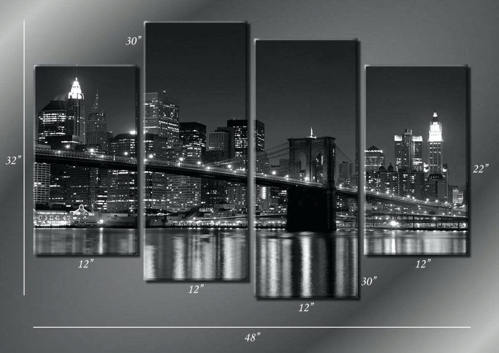 Wall Arts ~ Cool Brooklyn Map Wall Art Afflatus Brooklyn Bridge Throughout Brooklyn Map Wall Art (Image 16 of 20)