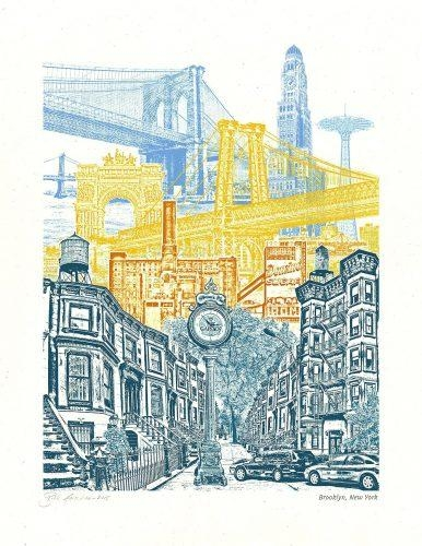 Wall Arts ~ Cool Brooklyn Map Wall Art Afflatus Brooklyn Bridge With Regard To Brooklyn Map Wall Art (Image 19 of 20)