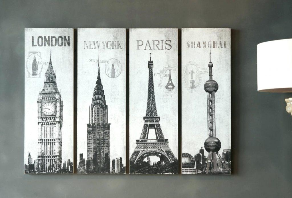 Wall Arts ~ Direct Related Pictures Wall Art London Paris Shanghai Throughout Paris Map Wall Art (Image 18 of 20)