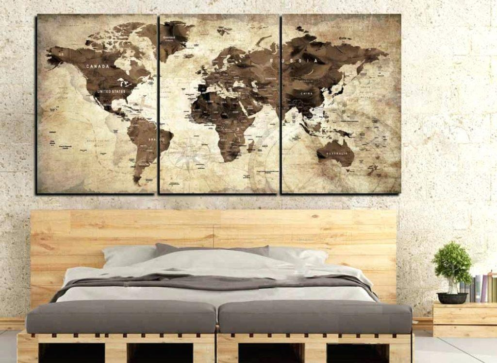 Wall Arts ~ Great Old World Map Wall Art 26 With Additional Eat With Regard To Old Map Wall Art (Image 18 of 20)