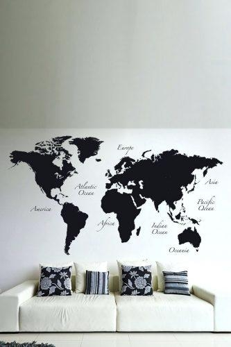 Wall Arts ~ Map Wall Art Etsy Wood Us And Canada Map Wall Art With Regard To Africa Map Wall Art (Image 17 of 20)