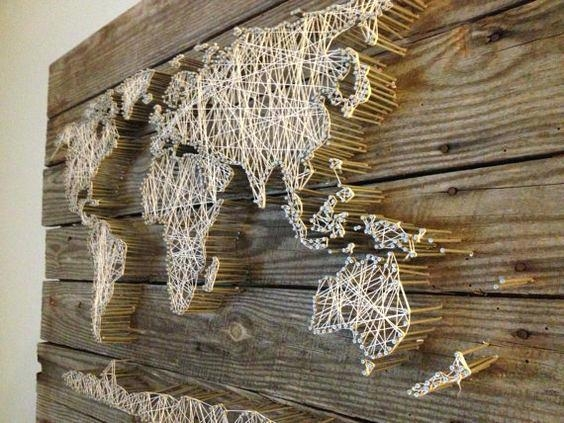 Wall Decor Maps – Danielederossi With Regard To String Map Wall Art (Image 14 of 20)