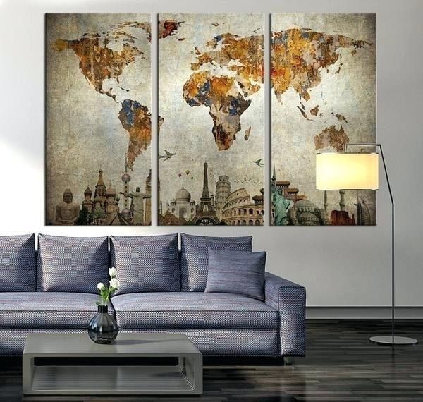 Wall Decor Maps Full Size Of Living Large World Map Wall Art Inside Large Map Wall Art (Image 17 of 20)