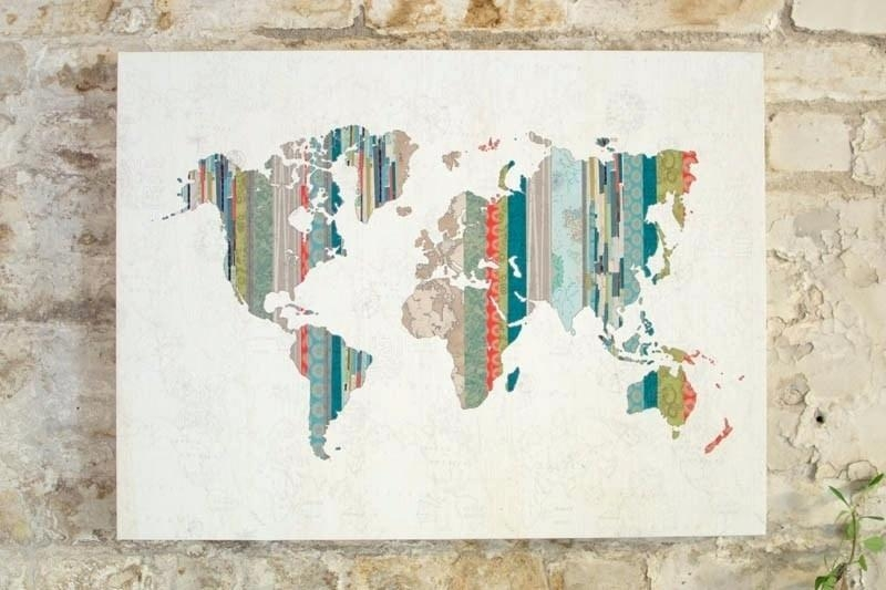 Wall Decor Maps Style Broker World Map Wall Art Online Option Inside Map Wall Art Maps (Image 19 of 20)