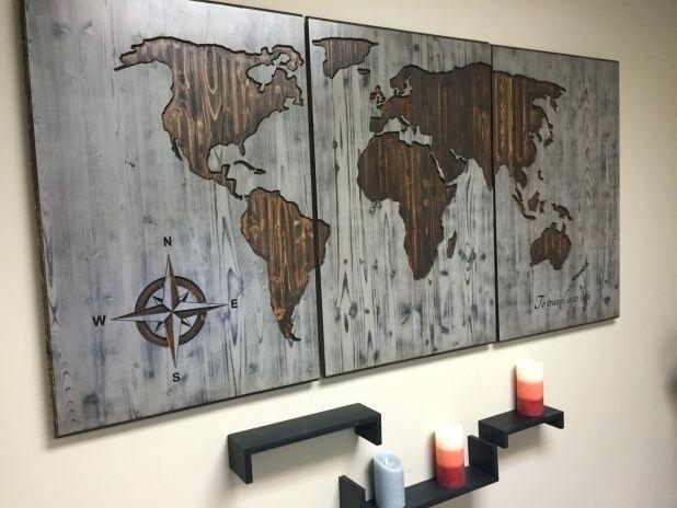 Wall Decor World Map Terrific Trendy Wall World Map Wood Wall Wood With Regard To Wood Map Wall Art (Image 15 of 20)