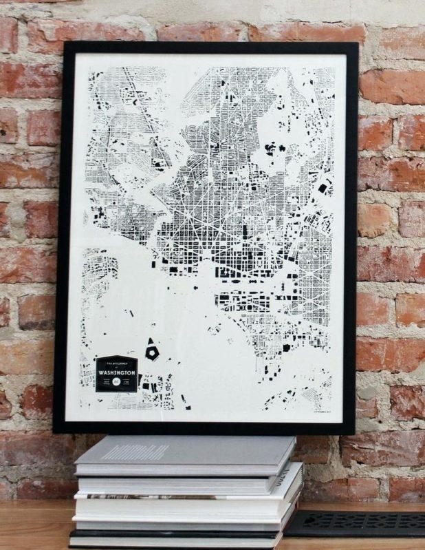 Wall Ideas : Zoom Washington Dc Map Wall Art Washington Dc Wall Throughout Washington Dc Map Wall Art (Image 10 of 20)