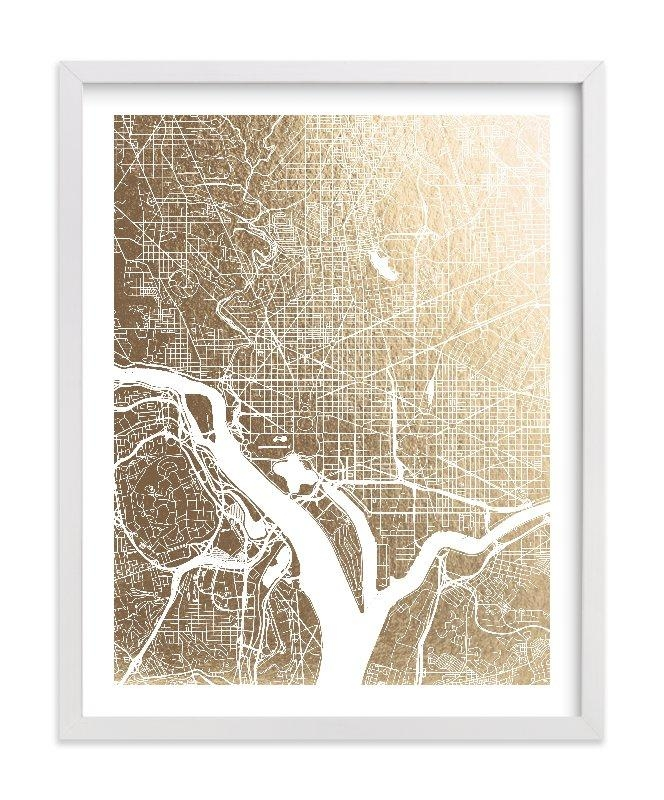 Featured Image of Washington Dc Map Wall Art