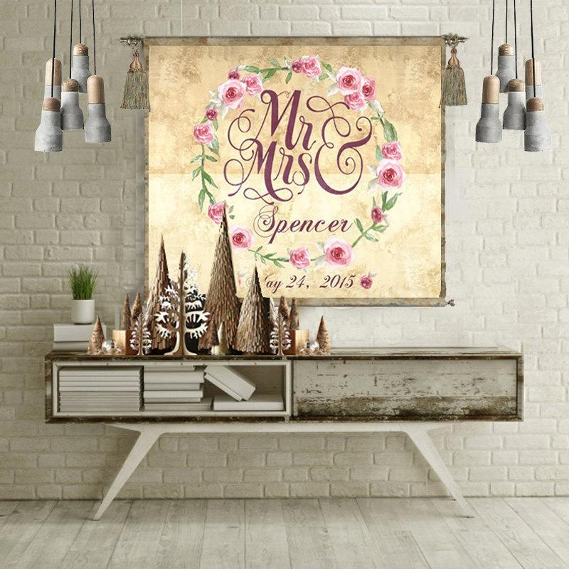 Wedding Gift Personalized Anniversary Gift Wall Art Wedding Sign With Regard To Personalized Map Wall Art (Image 16 of 20)
