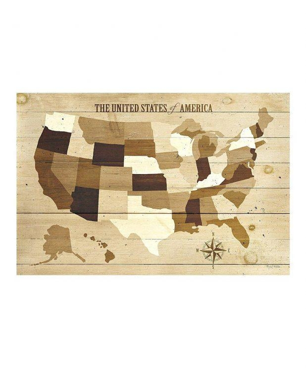 Wonderful Wall Ideas Us Map Wall Art License Plate Usa Map Wall For State Map Wall Art (Image 15 of 20)